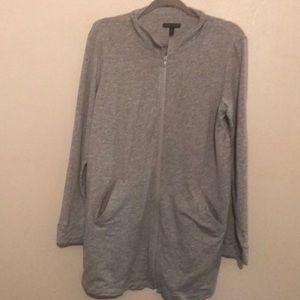 Eileen Fisher gray zip up jacket